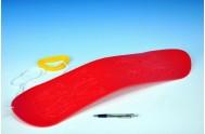Snowboard plast 70cm červený