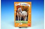 Puzzle Kůň Bělouš XL 33x47cm 300 dílků v krabici 23x34x3,5cm