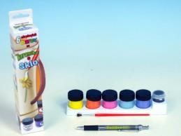 Barvy na keramiku a sklo 6ks v krabičce - Rock David
