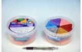 Voskovky magické trojboké mix 26 barev + 4 metalické 30ks v dóze