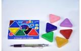 Voskovky magické trojboké Basic 6ks v krabičce