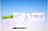 Šablony na malování voskovky magické - zvířátka 6ks v sáčku