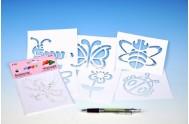 Šablony na malování voskovky magické - léto 6ks v sáčku