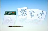 Šablony na malování voskovky magické - vánoce 6ks v sáčku