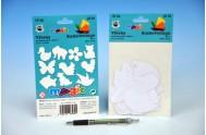 Výseky na malování voskovky magické - zvířátka  6ks v sáčku