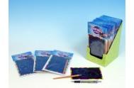 Škrábací obrázek duhový 15x10cm na kartě 24ks v boxu