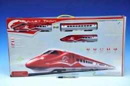 Vlak Bullet Train + dráha 1,63m + doplňky na baterie se zvukem se světlem v krabici - Rock David