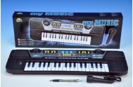 Piánko/Varhany 43cm 37 kláves s mikrofonem na baterie v krabici