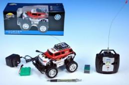 Auto RC Jeep Monster Truck 16cm na vysílačku na baterie s dobíjecím packem + adaptérem v krabici - Rock David