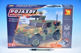 Stavebnice Dromader Vojáci Auto RC 20218 na vysílačku na baterie 284ks v krabici 37x24x7cm - Rock David
