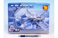 Stavebnice Dromader Vojáci Letadlo 22501 228ks v krabici 25,5x18,5x4,5cm