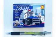 Stavebnice Dromader Policie Auto 23101 33ks v krabici 9,5x7x4,5cm