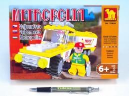 Stavebnice Dromader Auto + Vozík 25404 137ks v krabici 22x15x4,5cm - Rock David