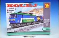 Stavebnice Dromader Vlak+koleje 107x70cm 25808 573ks v krabici 47x35x7cm
