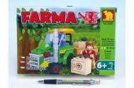 Stavebnice Dromader Farma 28401 103ks v krabici 22x15x4,5cm