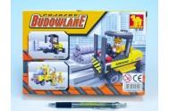 Stavebnice Dromader Auto Vysokozdvižný Vozík 29402 101ks v krabici 22x15x4,5cm