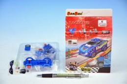 Stavebnice BanBao Auto závodní RaceClub Sapphire na zpětné natažení 22ks v krabičce - Rock David
