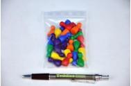 Figurky dřevo 25mm 24ks 6 barev společenská hra v sáčku