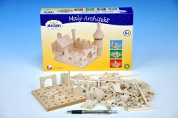 Stavebnice Malý Architekt kostky dřevo 120ks v krabici - Rock David