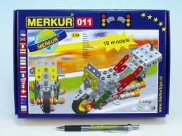 Stavebnice MERKUR 011 Motocykl 10 modelů 230ks v krabici 26x18x5cm - Rock David