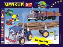 Stavebnice MERKUR 017 Kamion 10 modelů 202ks v krabici 26x18x5cm - Rock David
