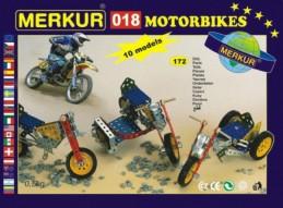 Stavebnice MERKUR 018 Motocykly 10 modelů 182ks v krabici 26x18x5cm - Rock David