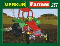 Stavebnice MERKUR Farmer Set 20 modelů 341ks v krabici 36x27x5,5cm - Rock David