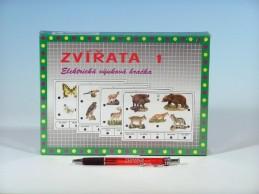 Zvířata 1 společenská hra na baterie v krabici 22x16x3cm - Rock David