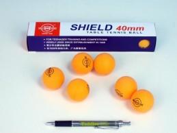 Míčky na stolní tenis SHIELD 4cm bezešvé oranžové 6ks v krabičce - Rock David