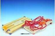 Houpačka prkénko dřevo 45x21cm v síťce