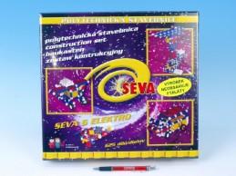 Stavebnice Seva 6 Elektro plast 625ks v karbici 35x33x8cm - Rock David