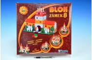 Stavebnice Blok 8 Zámek plast 221ks v krabici 35x33x10cm