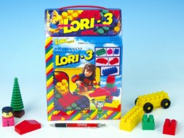 Stavebnice LORI 3 plast 50ks v krabici 19x28x10cm - Rock David