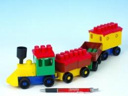 Stavebnice LORI 6 vlak+ 3 vagónky plast v sáčku - Rock David
