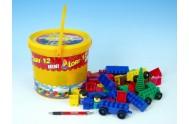 Stavebnice LORI 12 plast 82ks v plastovém kbelíku 20cm