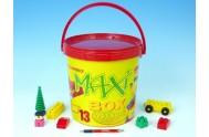 Stavebnice LORI 13 plast 193ks v plastovém kbelíku MAXI 26cm