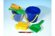 Sada na písek - kbelík, lopatka, bábovka plast v sáčku od 12 měsíců
