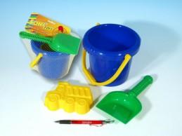 Sada na písek - kbelík, lopatka, bábovka plast v sáčku od 12 měsíců - Rock David