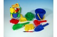 Kbelík sítko lopatka kupecká lopatka hrabičky plast v síťce od 12 měsíců