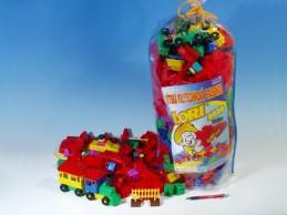 Stavebnice LORI 500 balení pro školky plast 500ks v pytli - Rock David