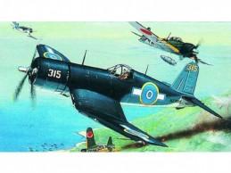 Model F4U-1 Corsair 14,1x17,3cm v krabici 25x14,5x4,5cm - Rock David