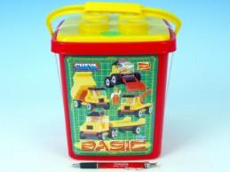 Stavebnice Cheva 2 Basic plast 352ks v kbelíku 17x22x17cm - Rock David