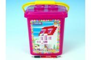 Stavebnice Cheva 18 Cukrárna plast 215ks v kbelíku 17x22x17cm