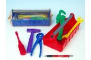 Nářadí ve skříňce plast 24 x 9,5 x 11cm, 2 barvy (1ks v síťce)