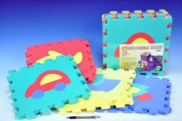 Pěnové puzzle Dopravní prostředky 30x30cm 10ks v sáčku - Rock David