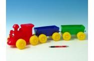Vlak + 2 vagony plast v síťce