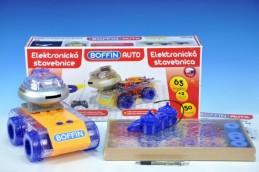 Stavebnice Boffin Auto elektronická 63 projektů na baterie 50ks v krabici - Rock David