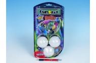 Žonglérské míčky Funtrix + DVD průměr 6,7cm na baterie 3xLR44 se světlem na kartě
