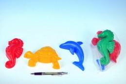 Formičky/Bábovky zvířátka plast na písek asst 2 druhy 3ks v síťce od 12 měsíců - Rock David