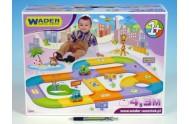 Silnice pro děti + 2 auta plast 4,3m v krabici od 12 měsíců Wader